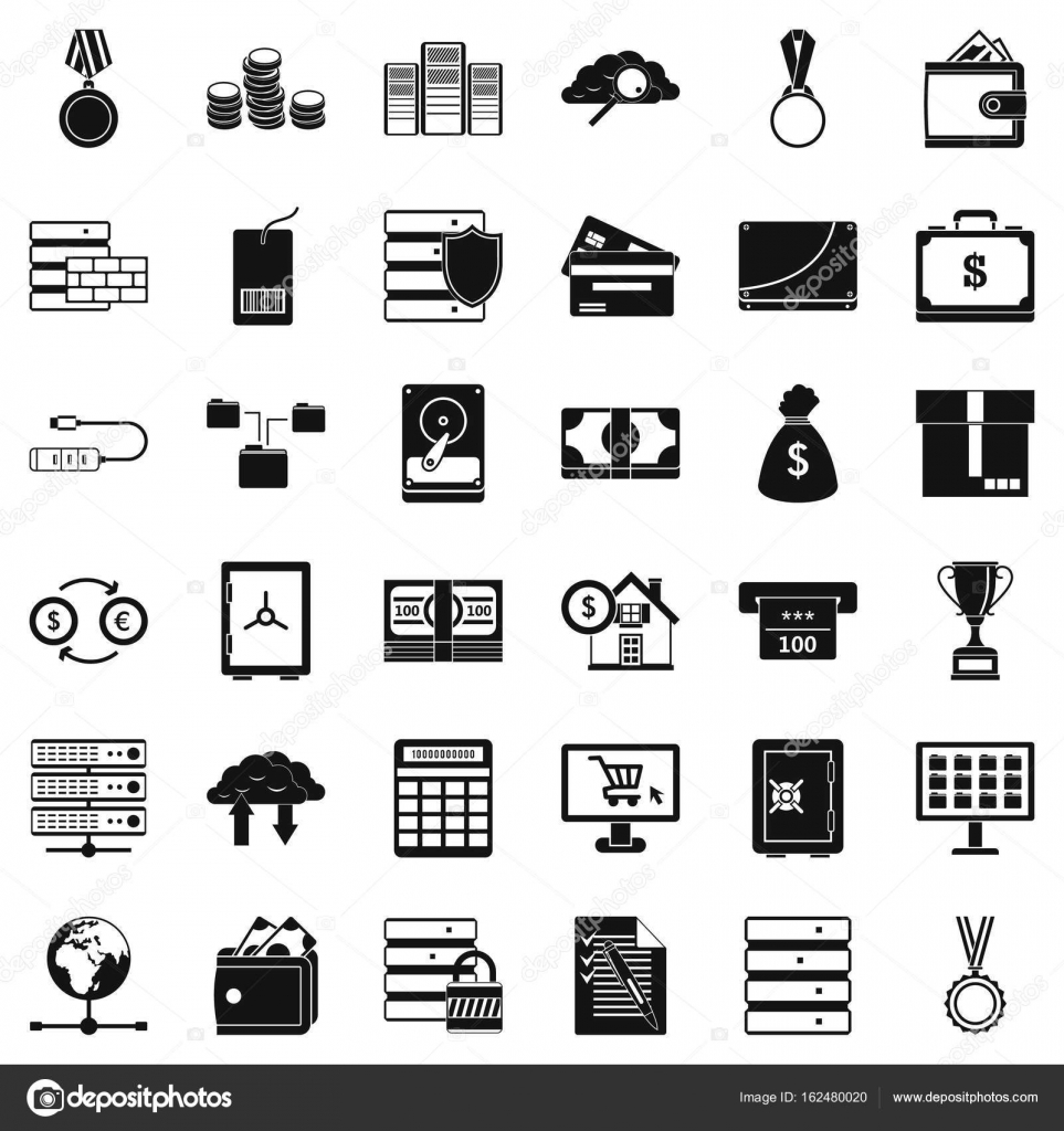 Business Diagramm Symbole Sets, einfachen Stil — Stockvektor ...