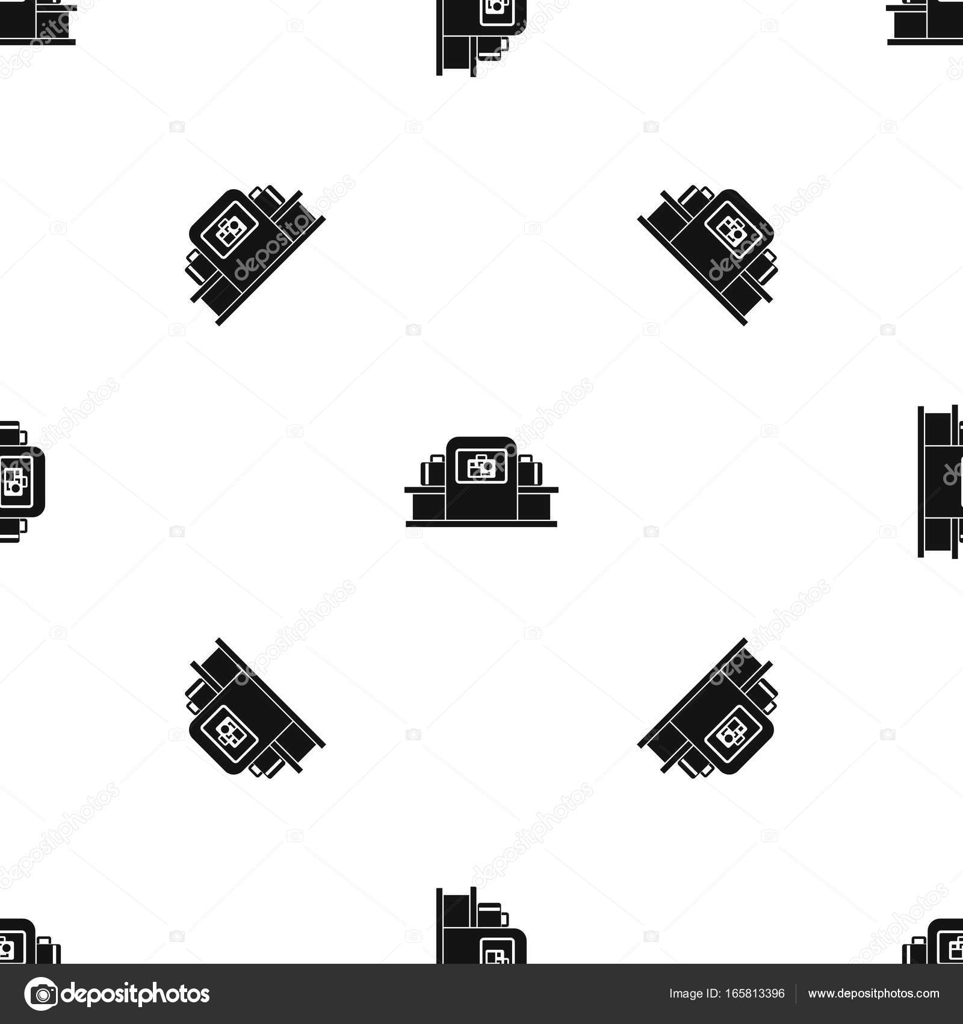 Aeropuerto equipaje escáner transparente blanca — Vector de stock ...