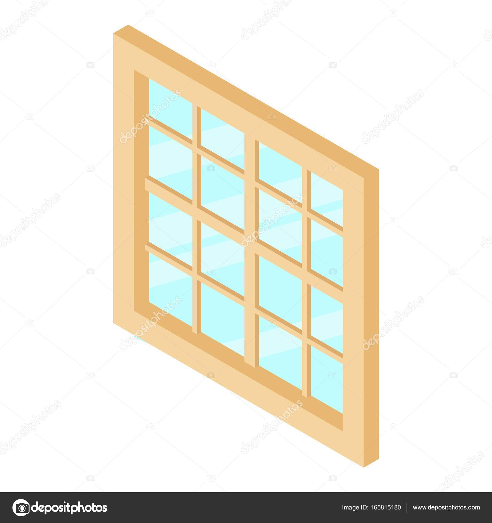 Lattice window frame icon, isometric 3d style — Stock Vector ...