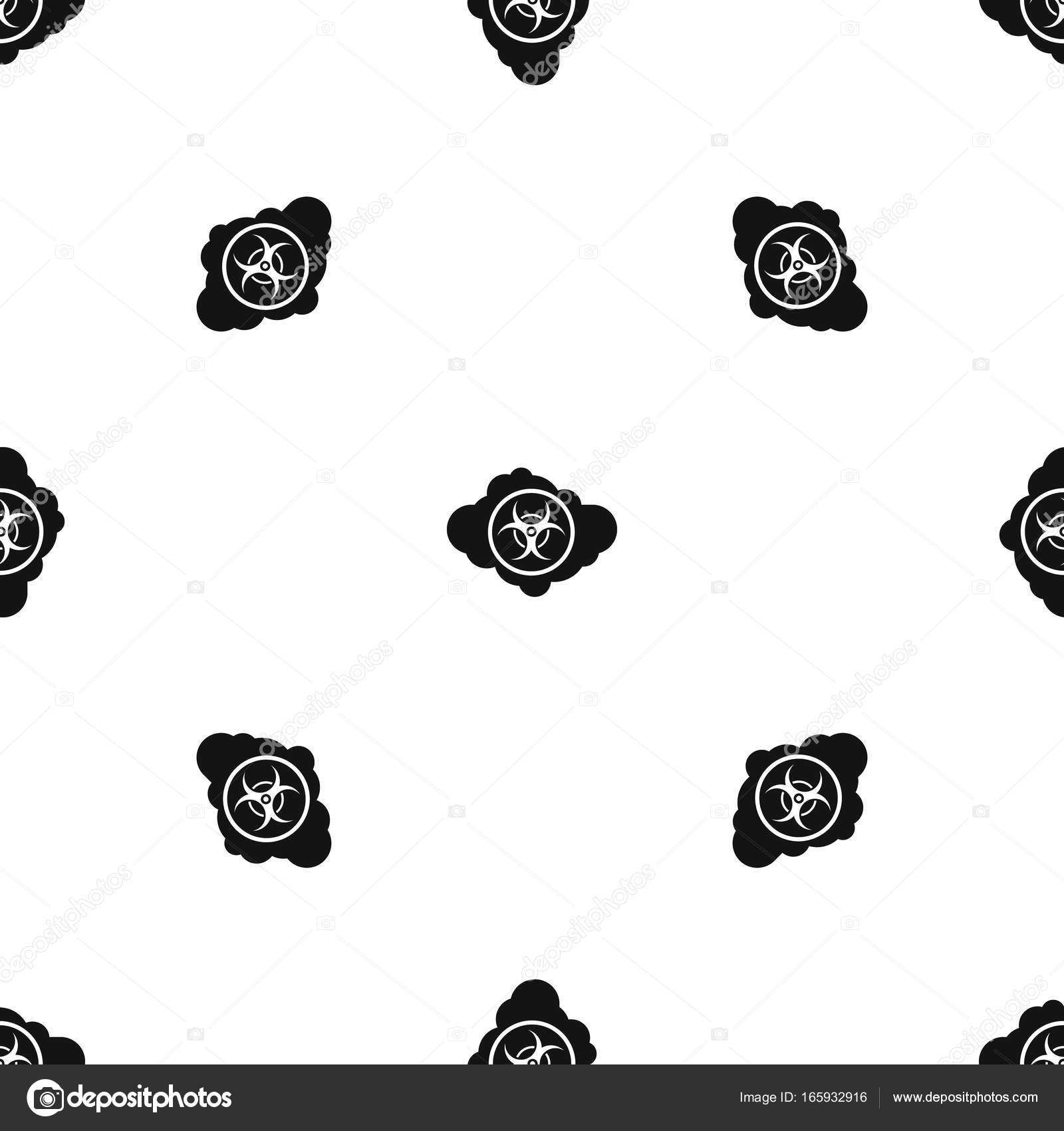 Cloud with biohazard symbol pattern seamless black stock vector cloud with biohazard symbol pattern repeat seamless in black color for any design vector geometric illustration vector by ylivdesign biocorpaavc Images