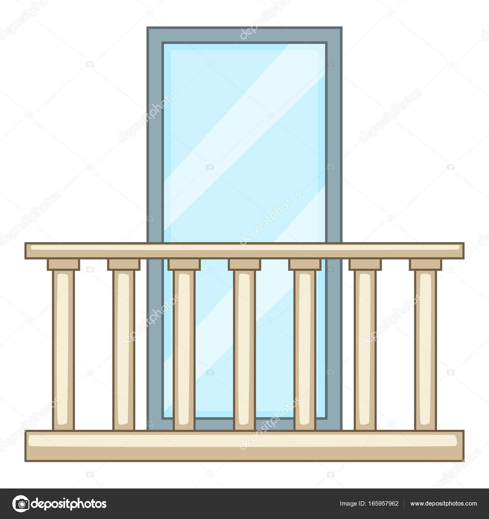 Concrete balcony icon cartoon style stock vector for Balcony cartoon
