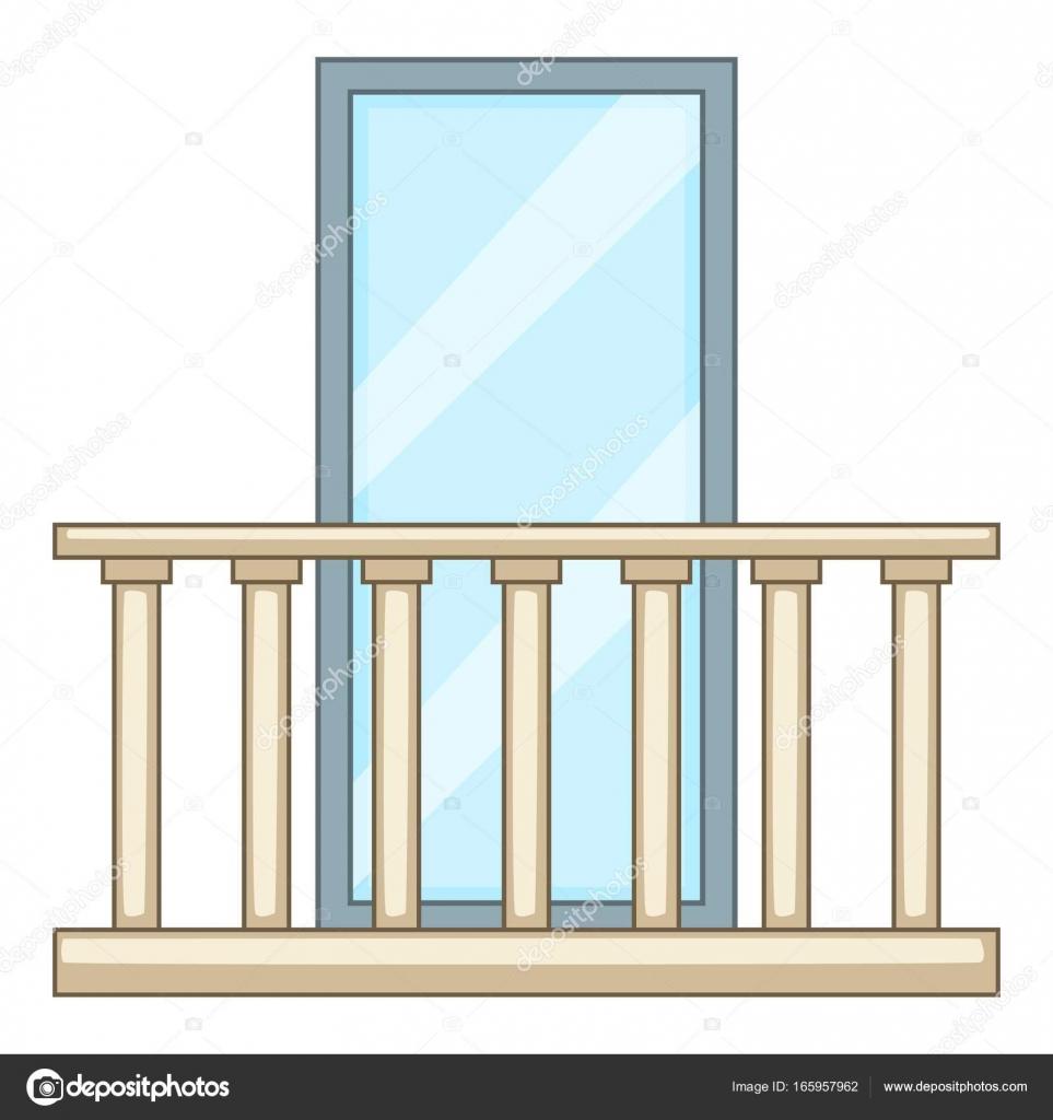 Concrete balcony icon cartoon style stock vector for Balcony vector