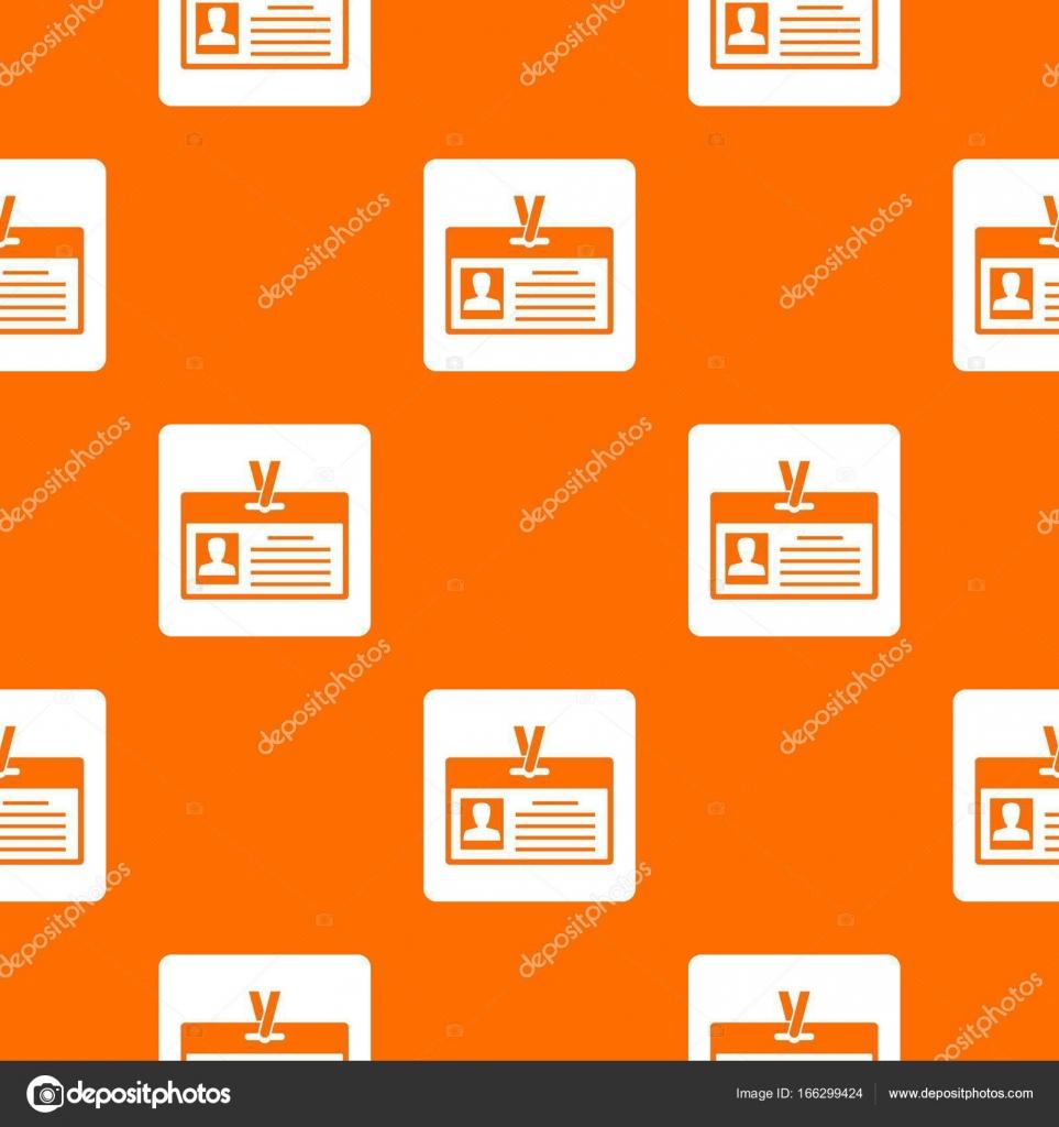 Tarjeta de identificación de patrón transparente — Archivo Imágenes ...