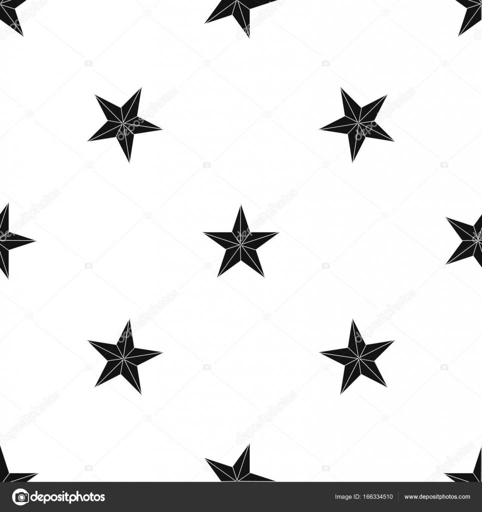 stern muster wiederholen sie nahtlos in schwarzer farbe fr jedes design geometrischen vektor illustration vektor von ylivdesign - Stern Muster