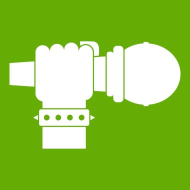 Hand microphone icon green
