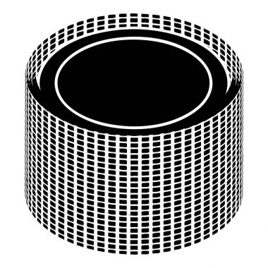 Building roll net icon, simple style