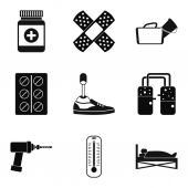 Fotografie Medical man icons set, simple style