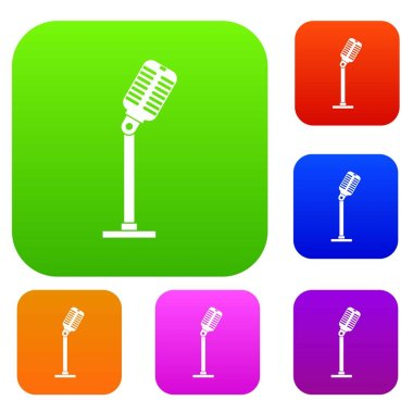 Microphone set color collection
