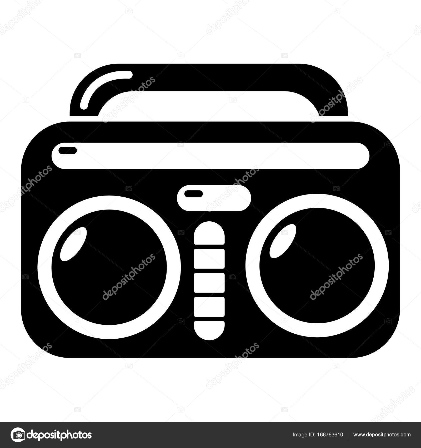 vintage boombox icon simple style stock vector ylivdesign rh depositphotos com boom box vector free boombox vector image