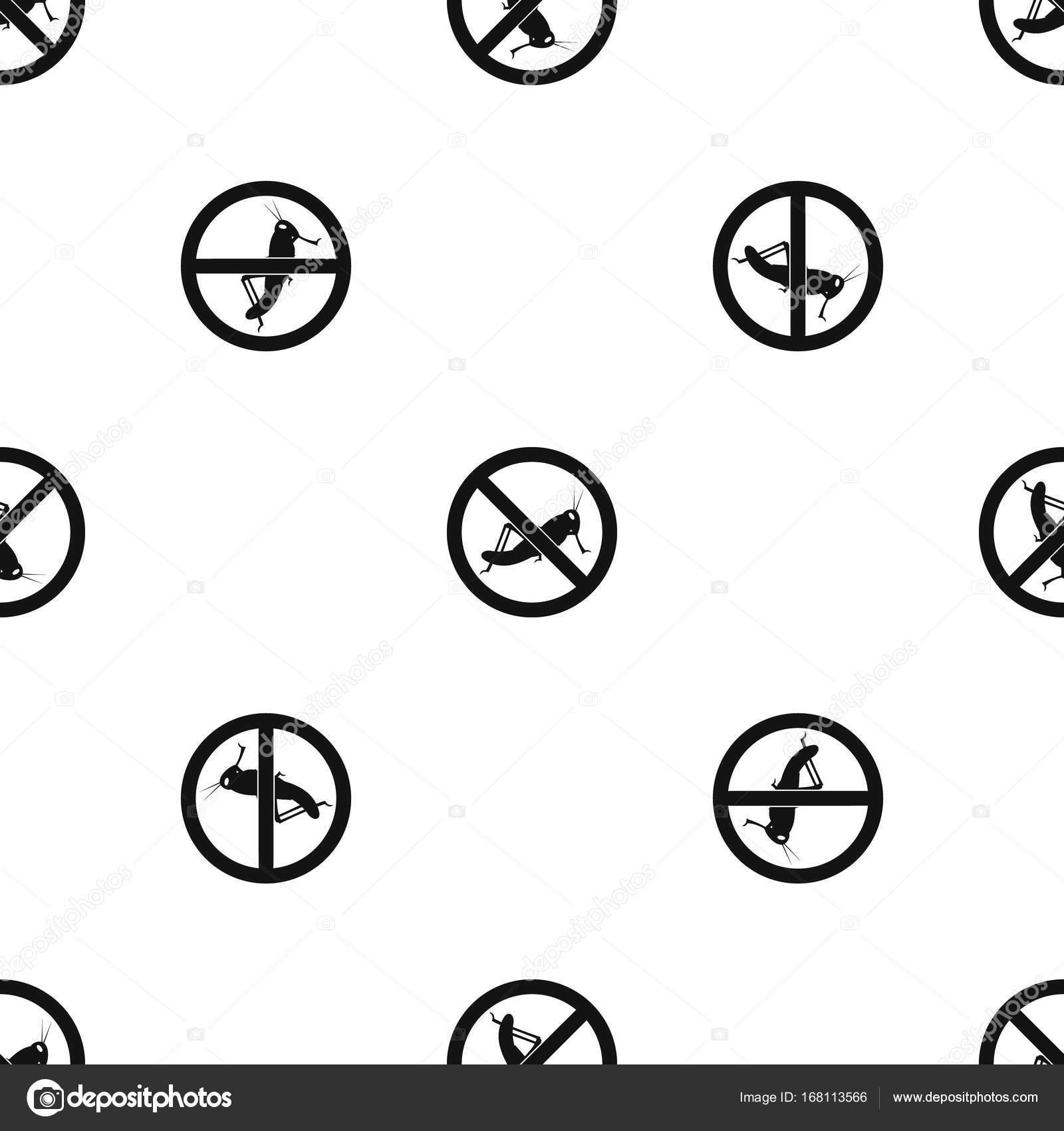 Keine Spur von Heuschrecken Muster nahtlos schwarz — Stockvektor ...