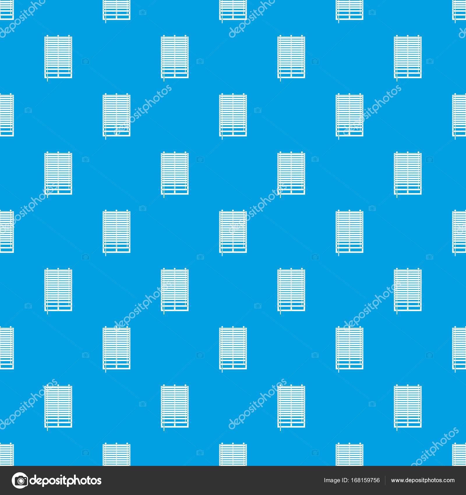 Fenêtre Avec Bleu Transparente De La Jalousie En Bois Modèle Image