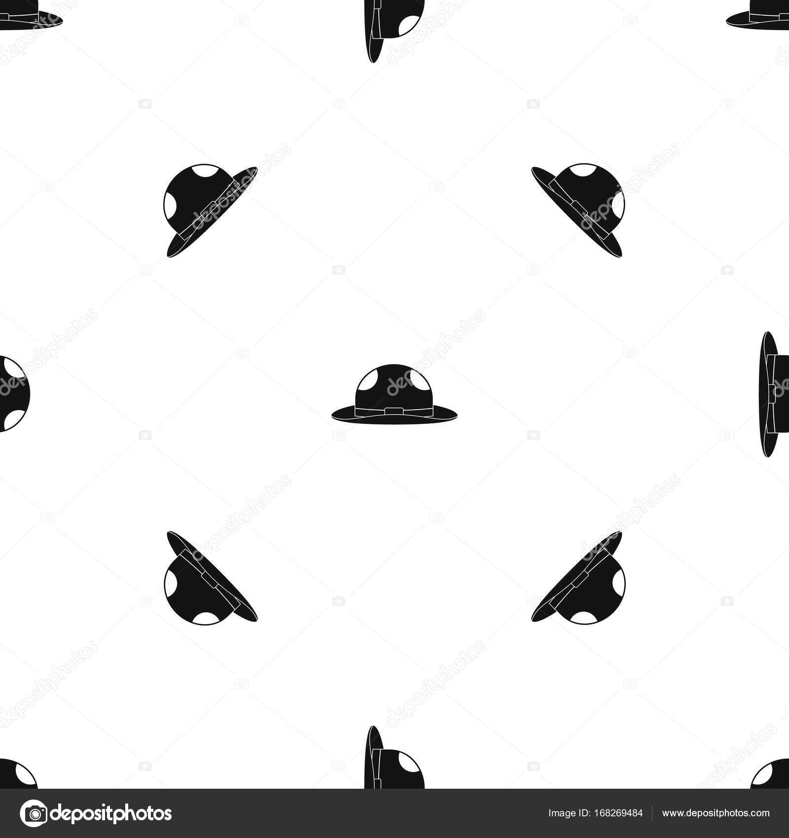 Verano gorro patrón transparente negro — Vector de stock ...