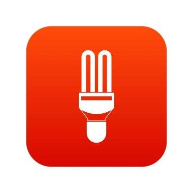 Fluorescence lamp icon digital red