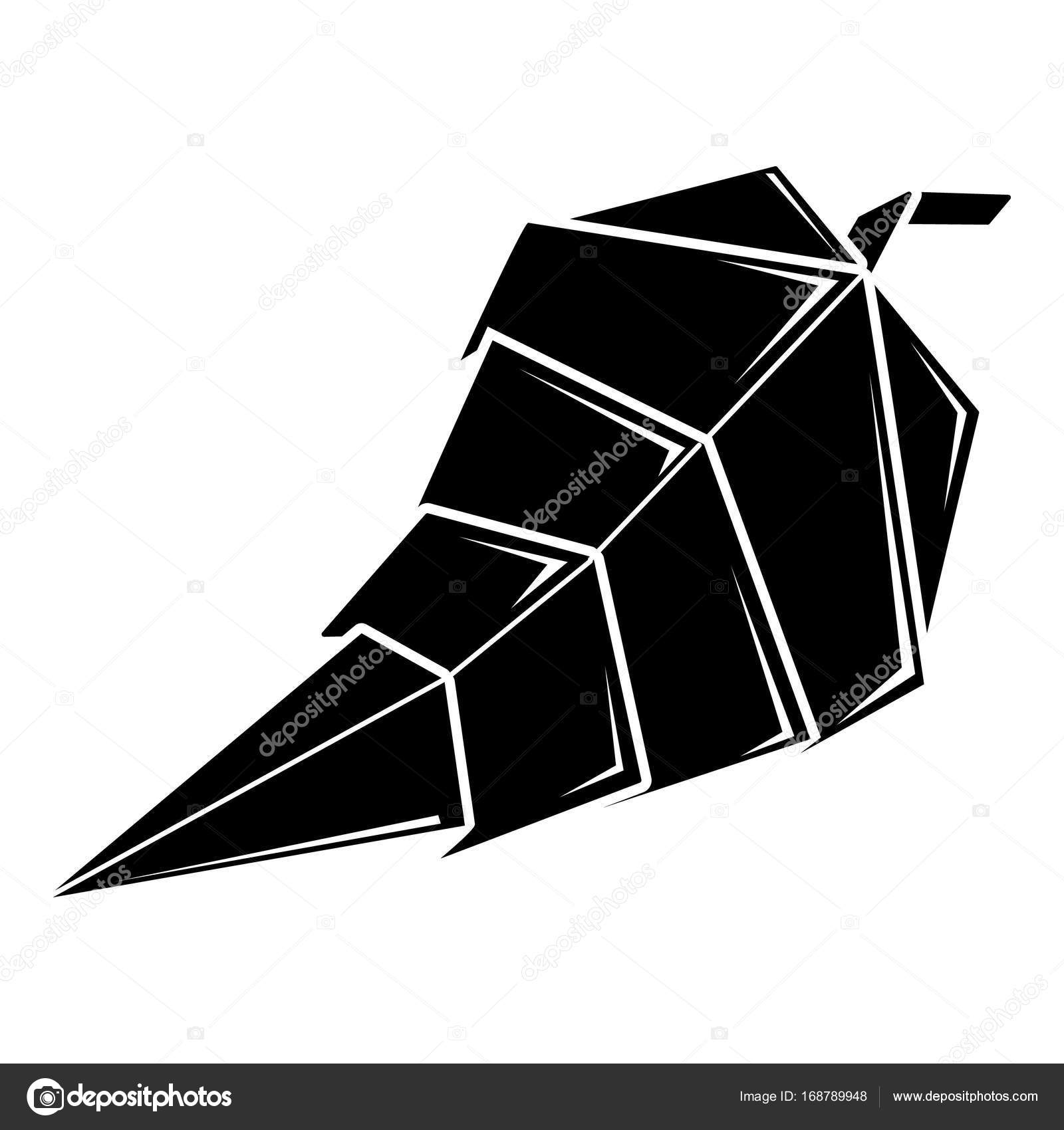 Origami Leaf Icon Simple Illustration Of Vector For Web By Ylivdesign