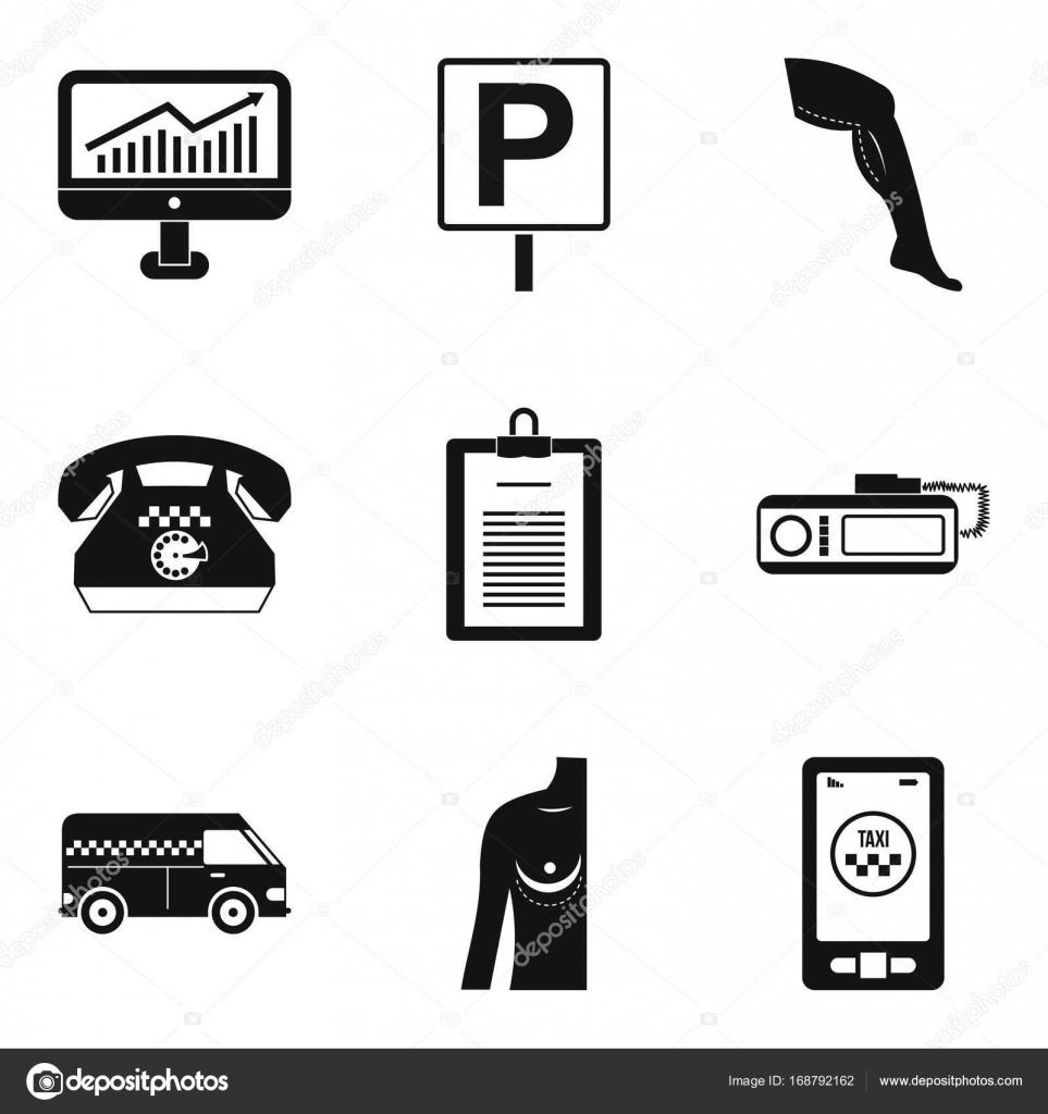 Markt Entwicklung Icons Set, einfachen Stil — Stockvektor ...