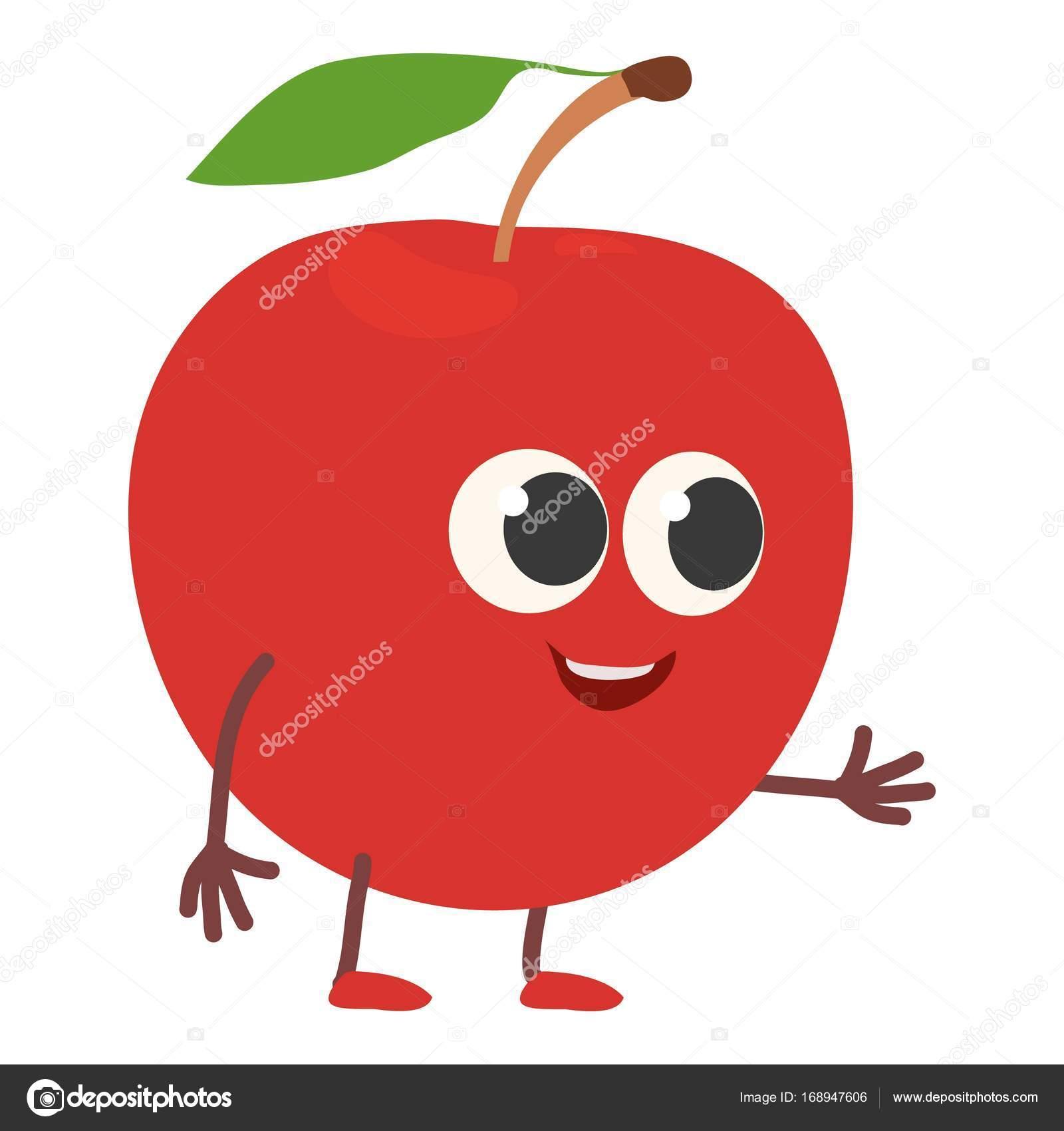Elma simgesi, karikatür tarzı — Stok Vektör © ylivdesign #168947606
