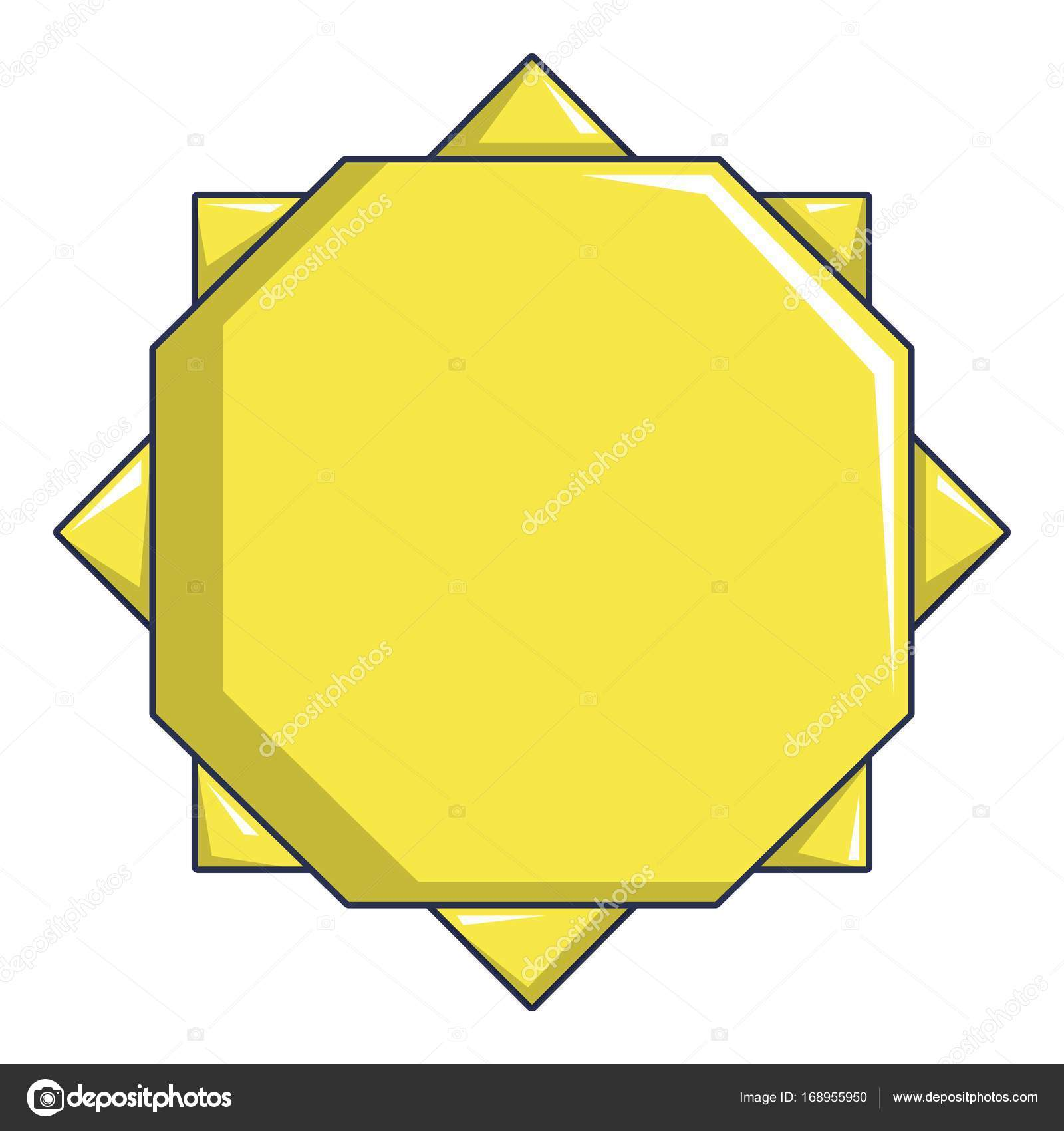 Origami Sun Icon Cartoon Style Stock Vector Ylivdesign 168955950