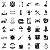 Automatické opravy ikony sada, jednoduchý styl