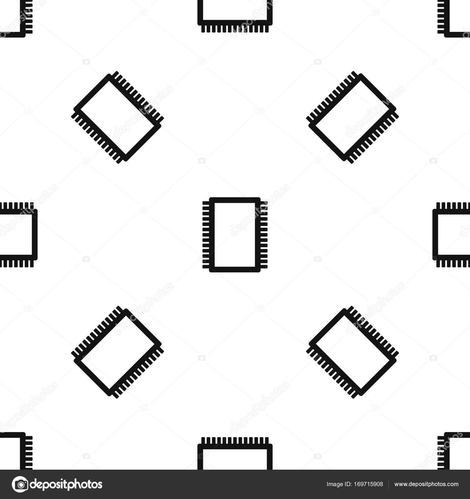 ordinateur de circuit imprim u00e9 motif noir sans soudure  u2014 image vectorielle ylivdesign  u00a9  169715908