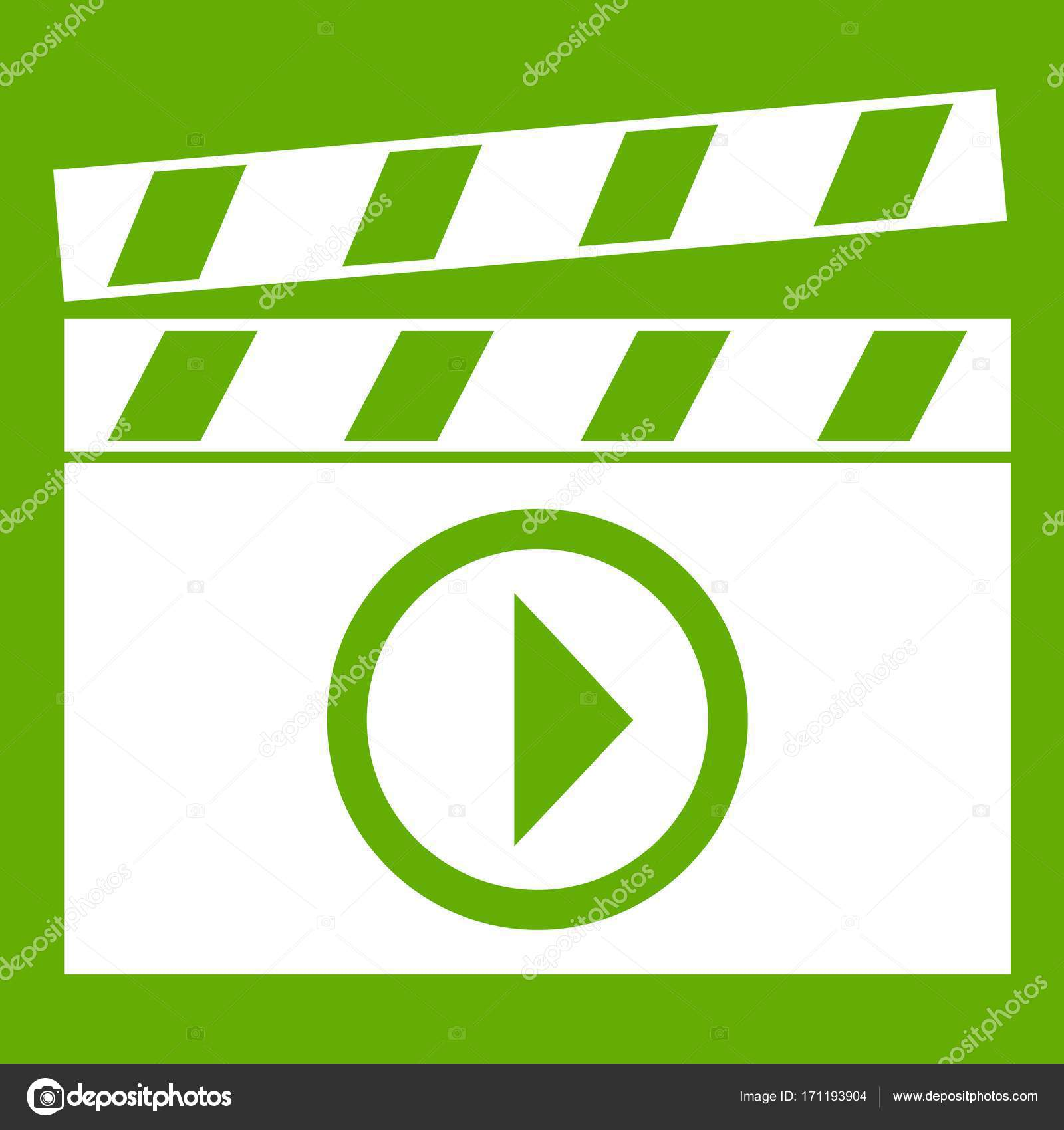 Clapperboard for movie shooting icon green stock vector clapperboard for movie shooting icon green stock vector biocorpaavc