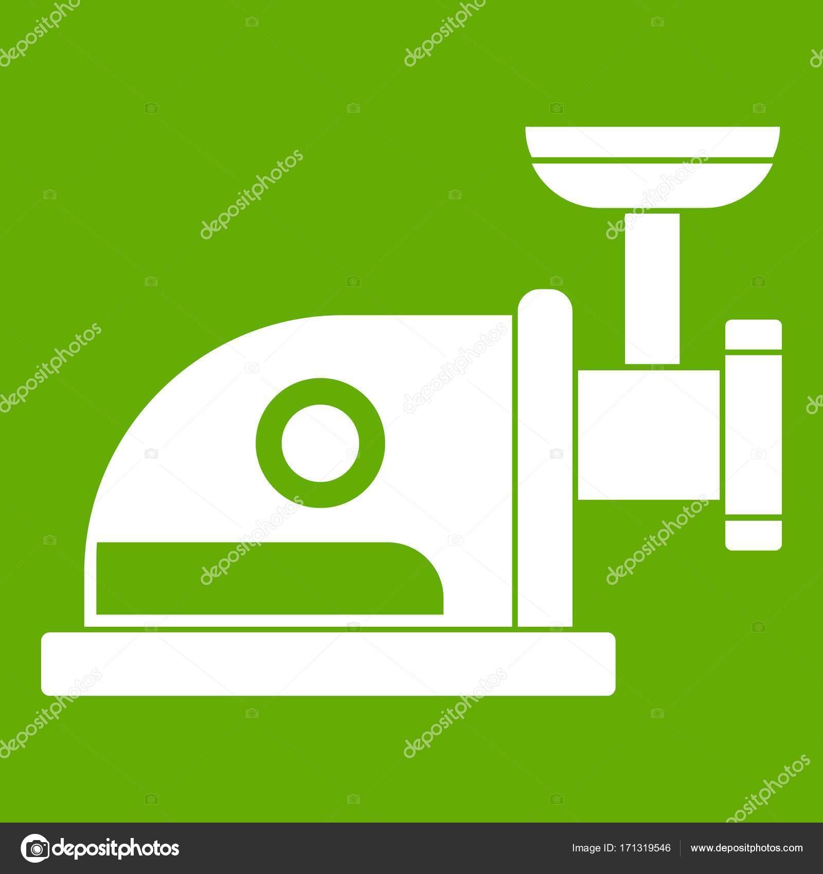 Elektrische Kaffeemühle-Symbol grün — Stockvektor © ylivdesign ...