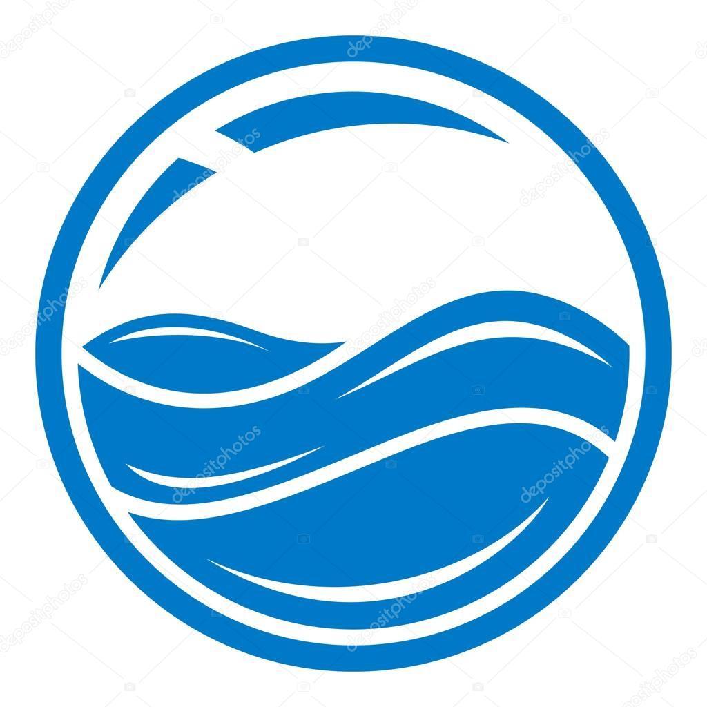 Aqua window icon, simple style