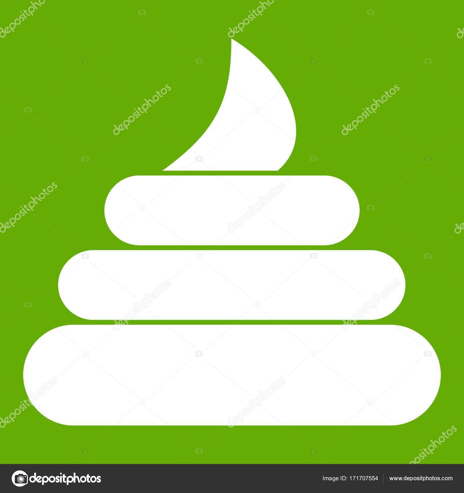 Stuhlgang Symbol Grün Stockvektor Ylivdesign 171707554
