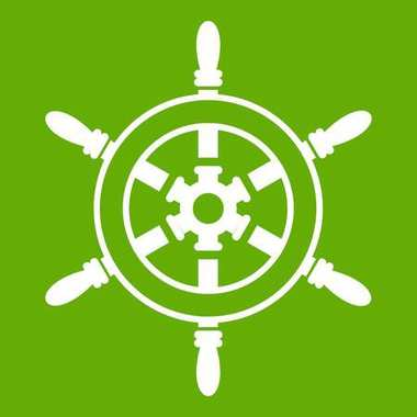 Wheel of ship icon green