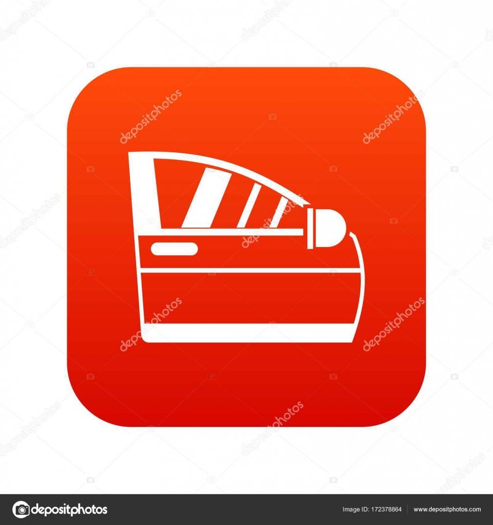Car Door Icon Digital Red Stock Vector Ylivdesign 172378864