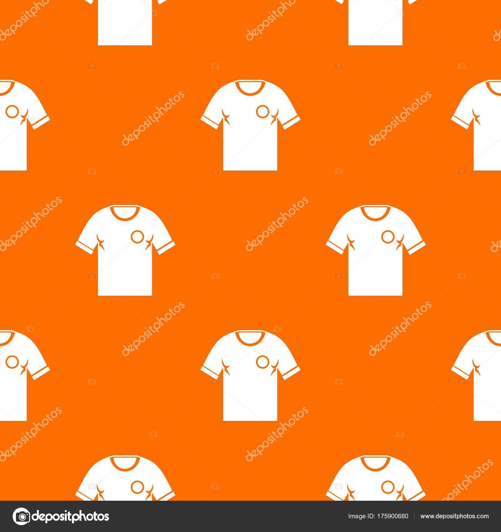 48e8e624ef Foci póló minta ismételje meg a narancssárga szín műkörmök varrat nélküli.  Vektor geometriai ábra — Vektorok ylivdesign ...