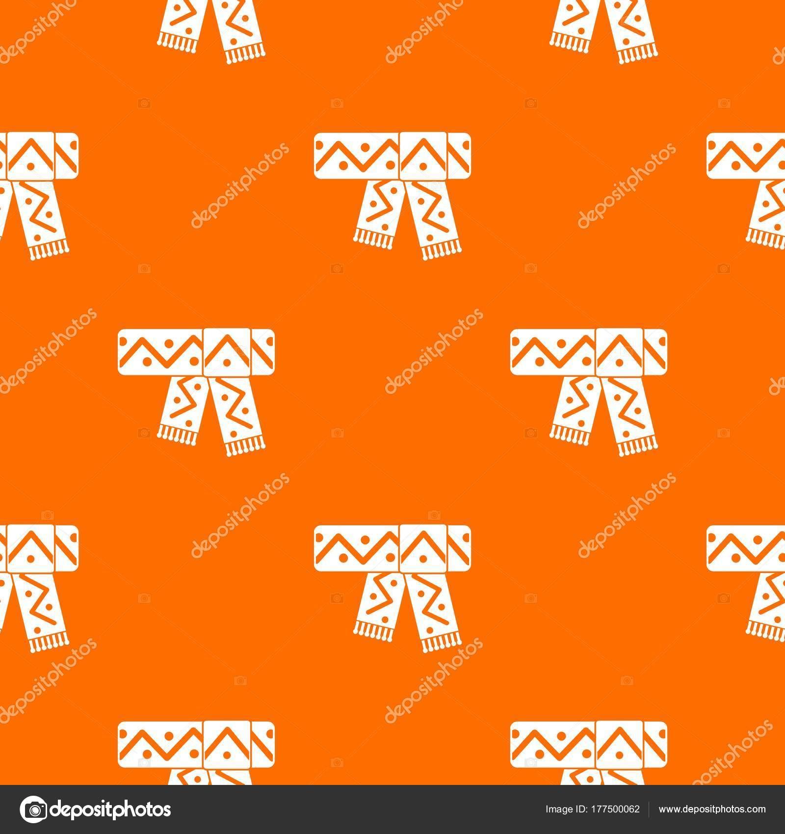 Bufanda hecha punto con patrón patrón transparente — Archivo ...