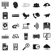 Bond icons set, simple style