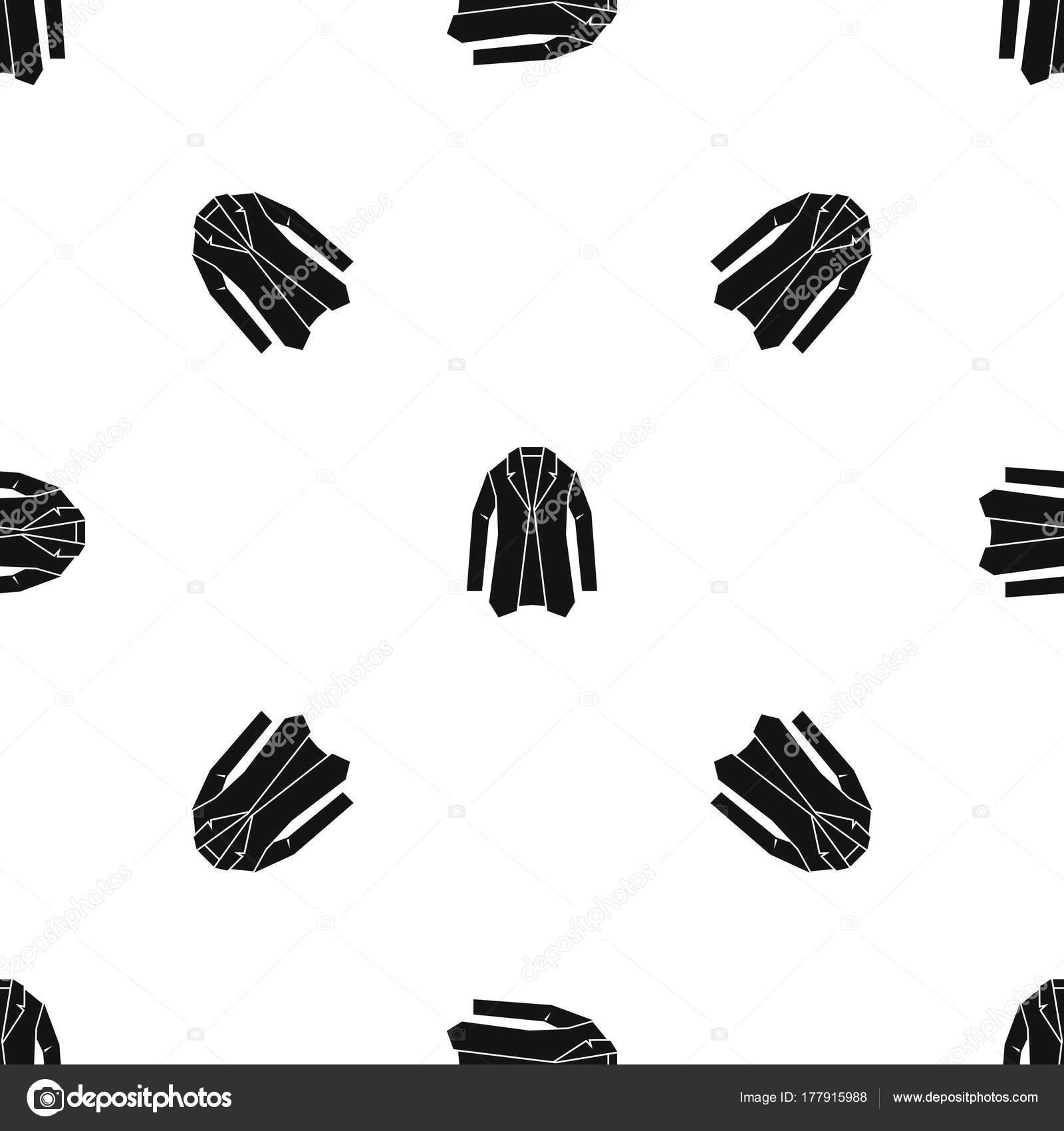 Chaqueta negra sin costura del patrón — Archivo Imágenes Vectoriales ...