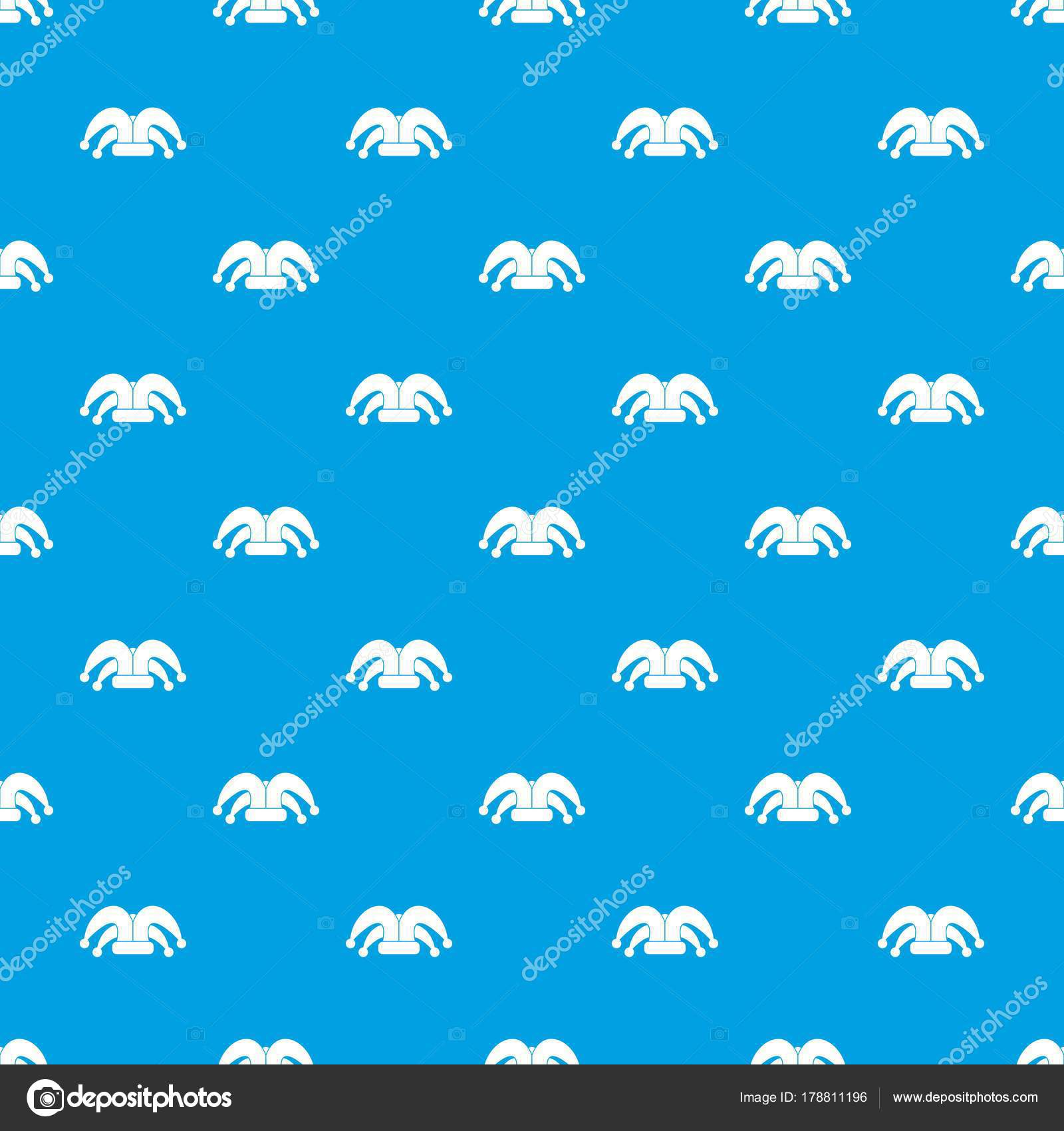 Clown hat pattern repeat seamless in blue color for any design. Vector  geometric illustration — Vector by ylivdesign d5abc2a3dc0