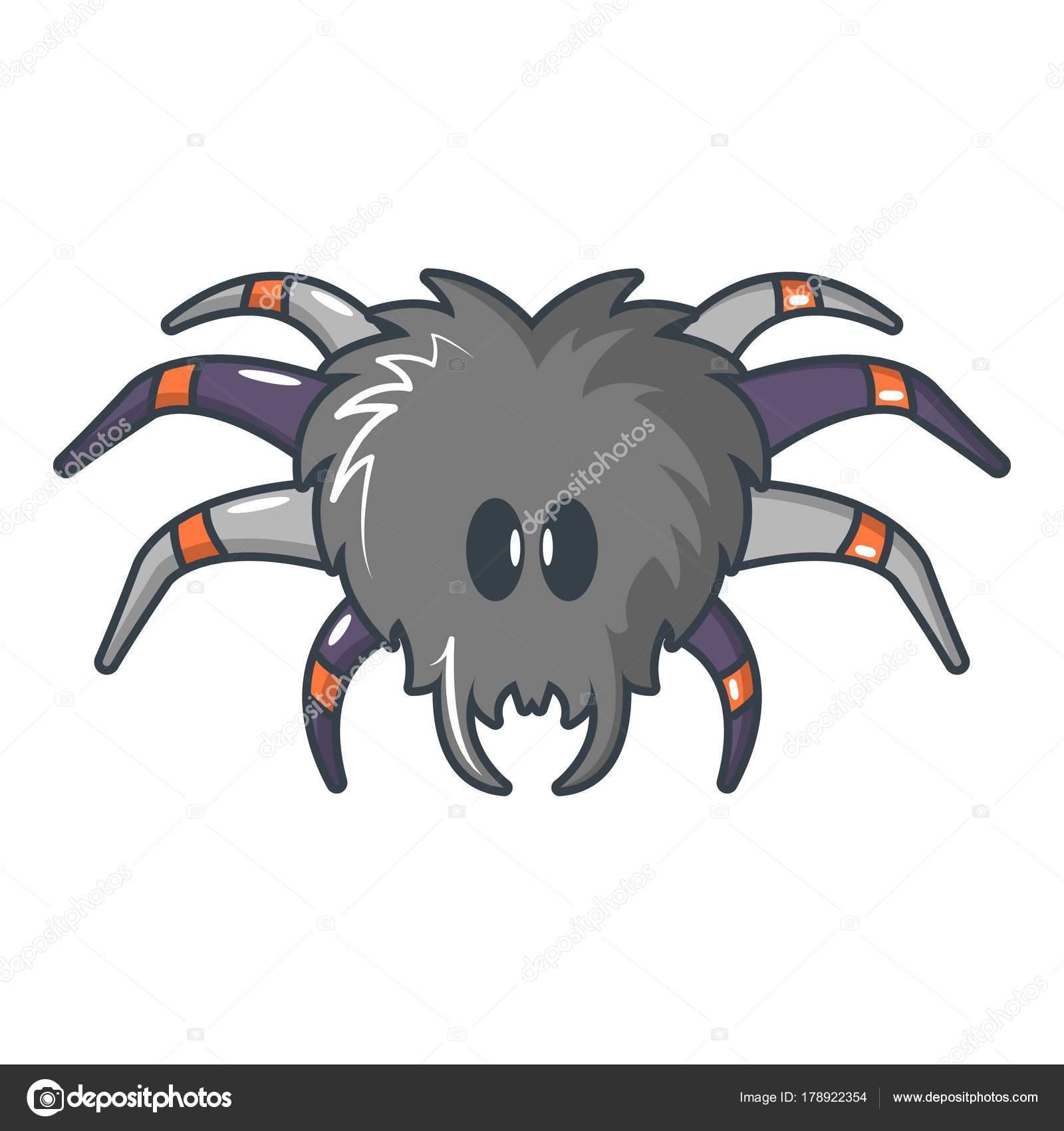Icono de tarántula, estilo de dibujos animados — Vector de stock ...