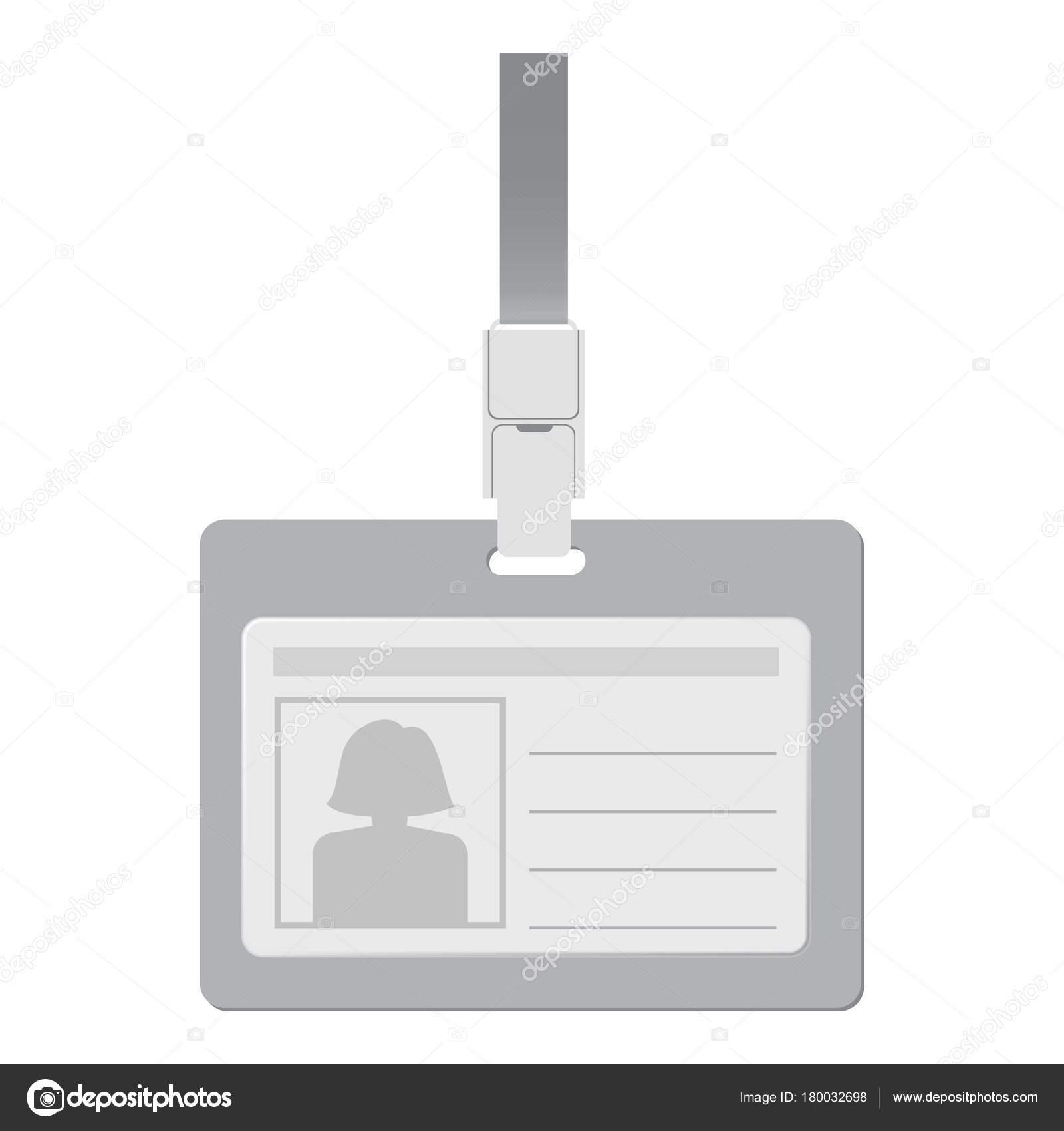 Tarjeta de identificación en blanco con maqueta de cierre — Vector ...