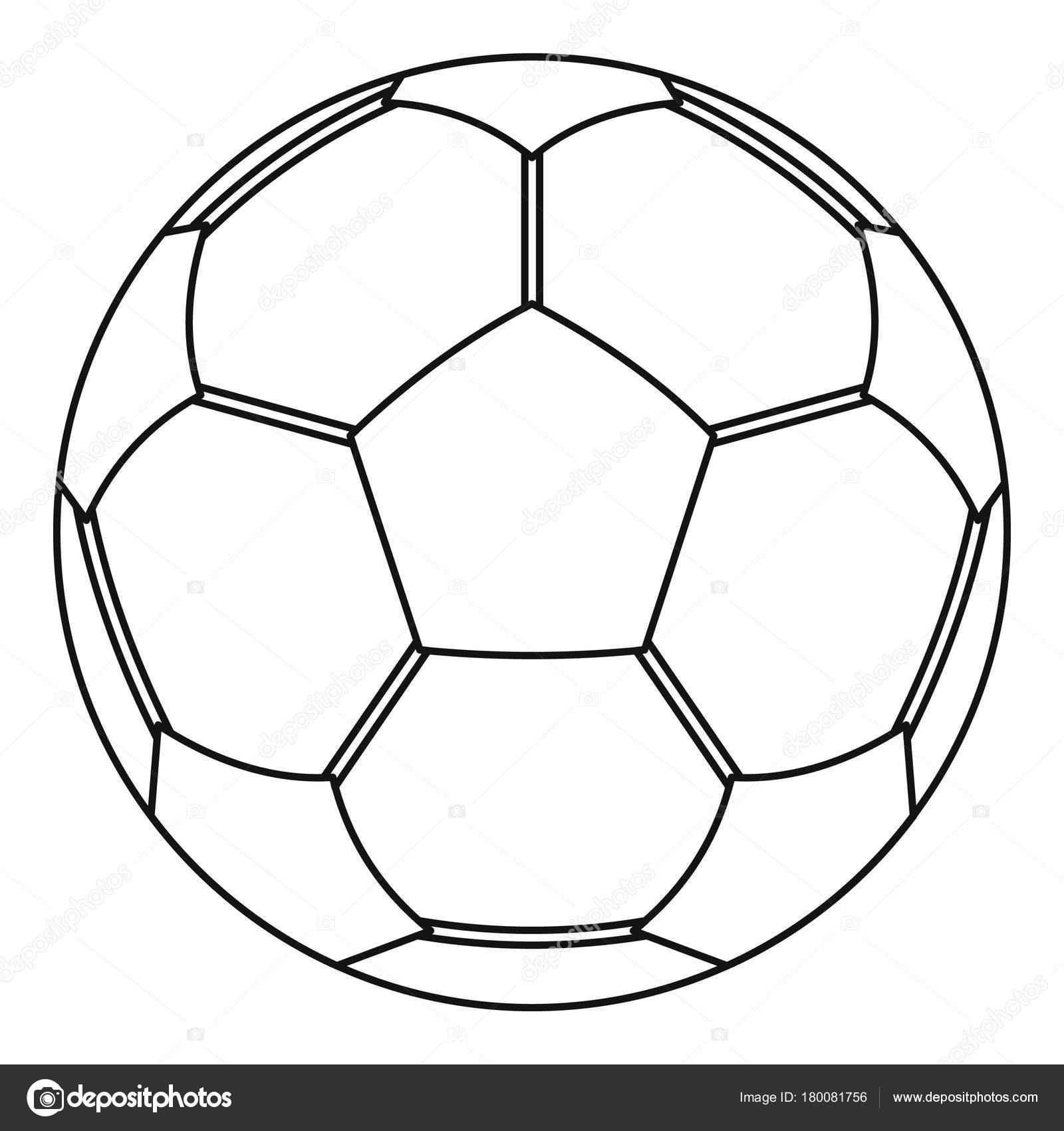 Football Ball Icon Outline Style Stock Vector C Ylivdesign