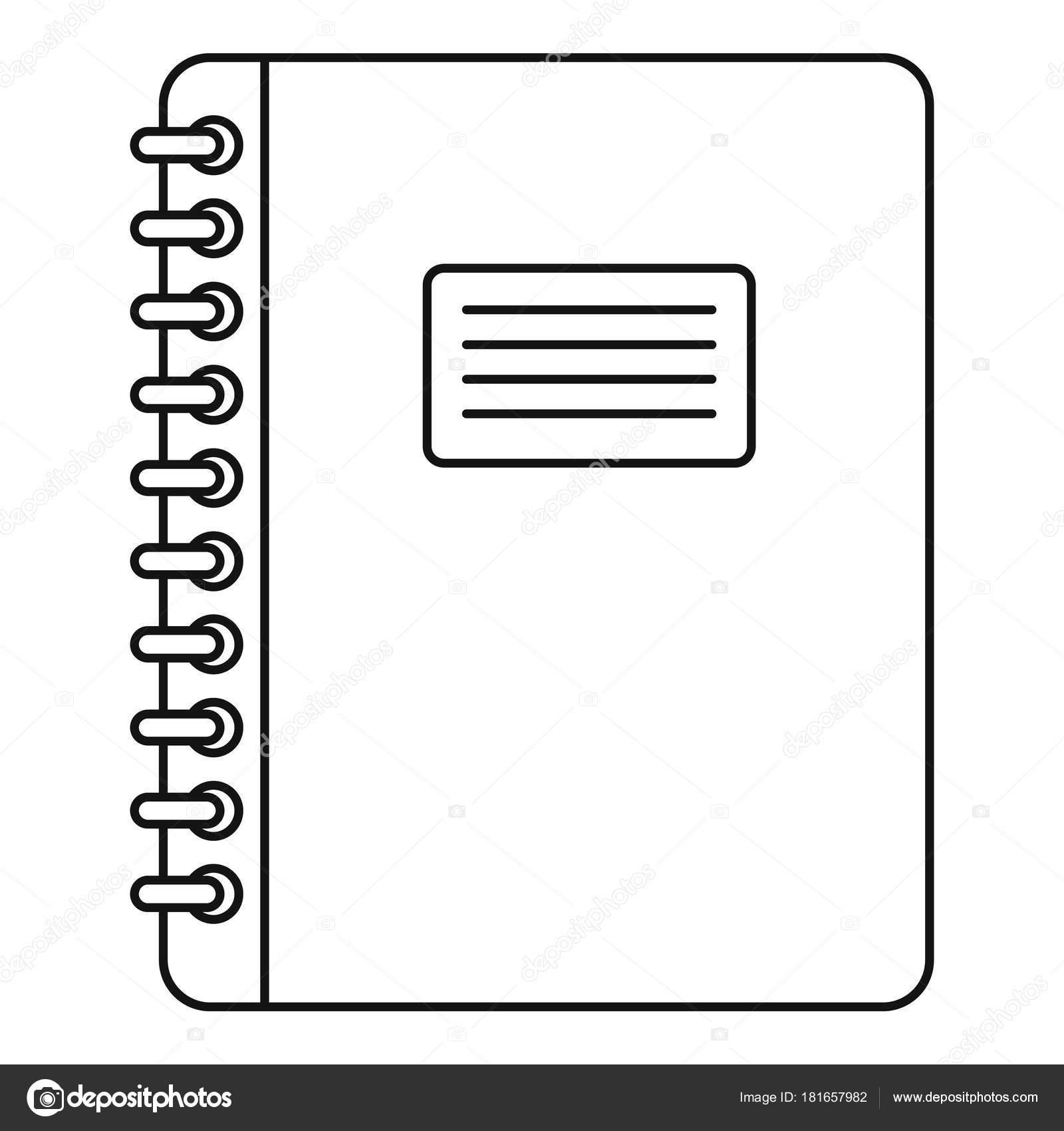 Spirale Notizblock-Symbol Gliederung — Stockvektor © ylivdesign ...