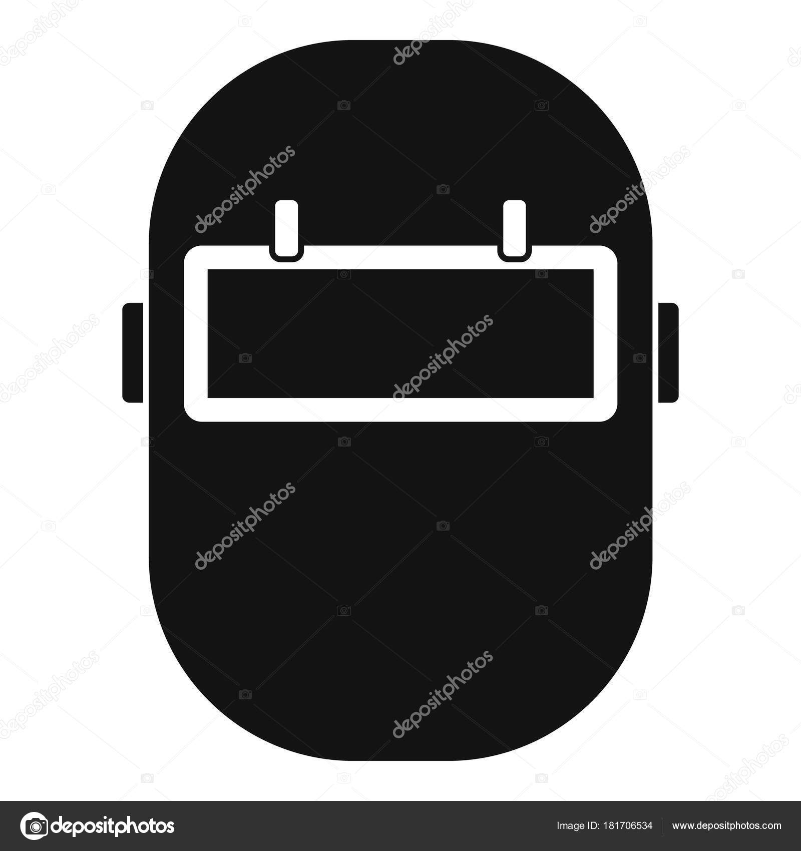 Welding Mask Icon Simple Stock Vector Ylivdesign 181706534 Helmet Diagram