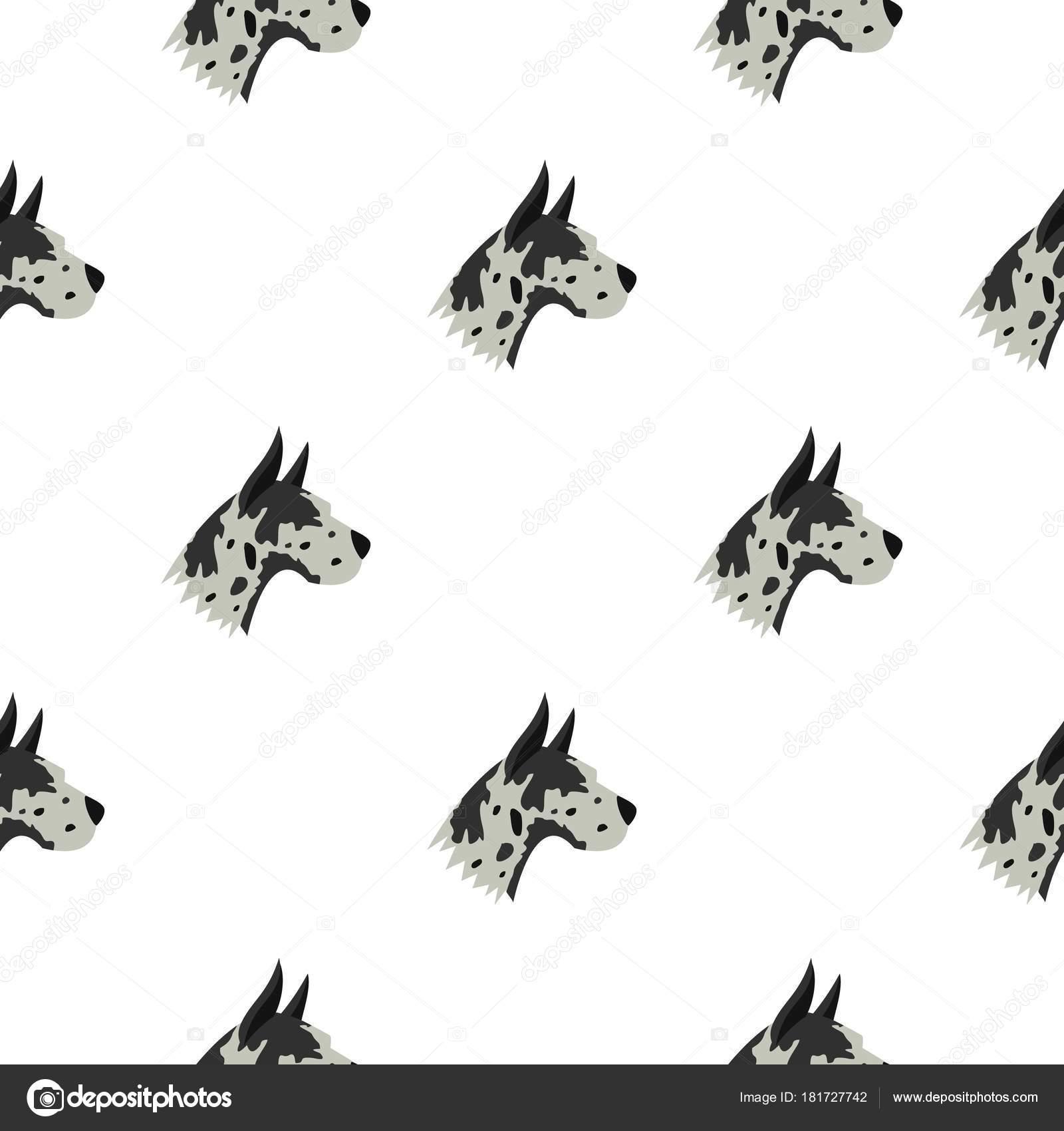 Patrón de perro gran danés sin costura — Vector de stock ...