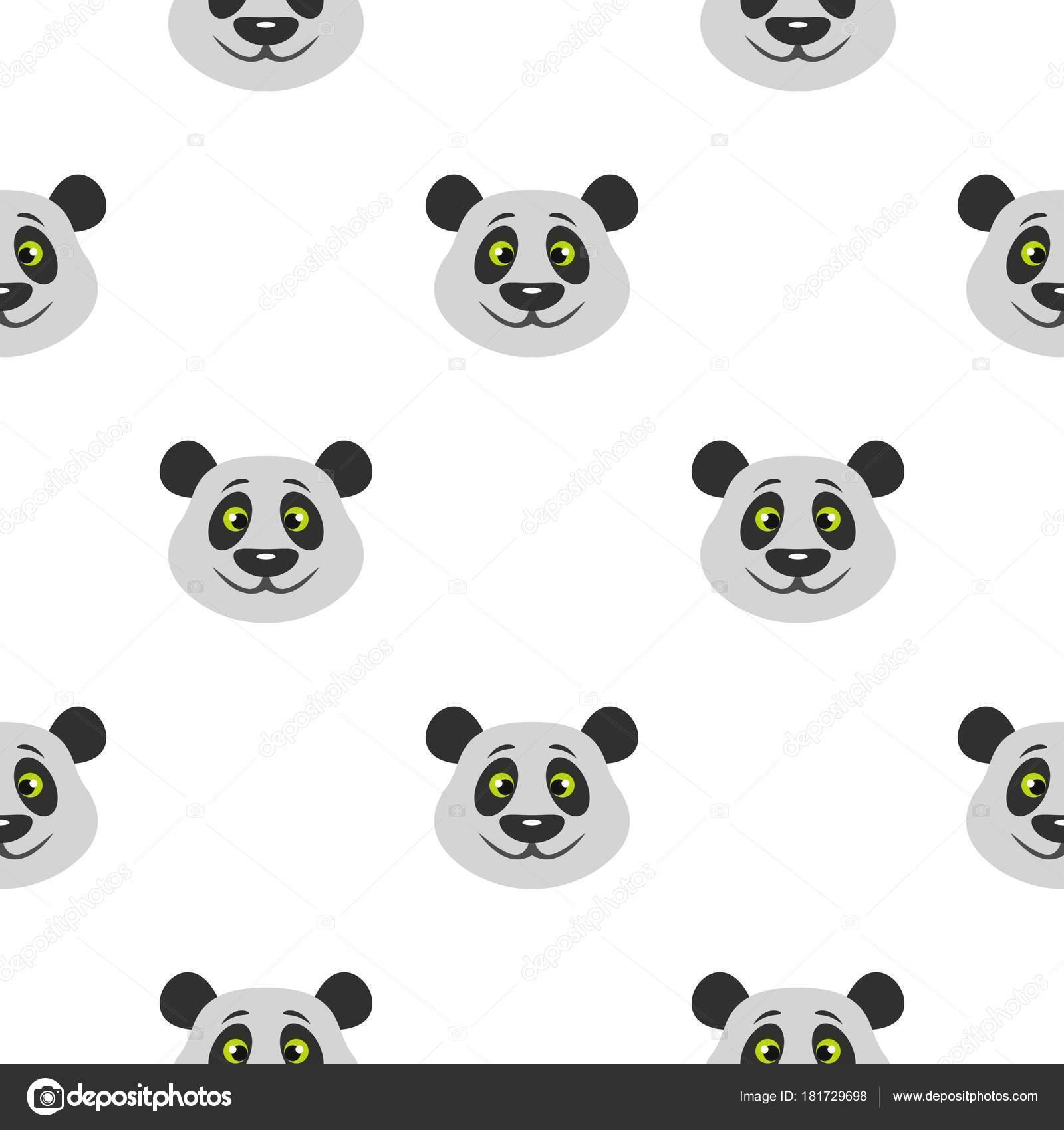 Cabeza de oso panda patrón transparente — Vector de stock ...