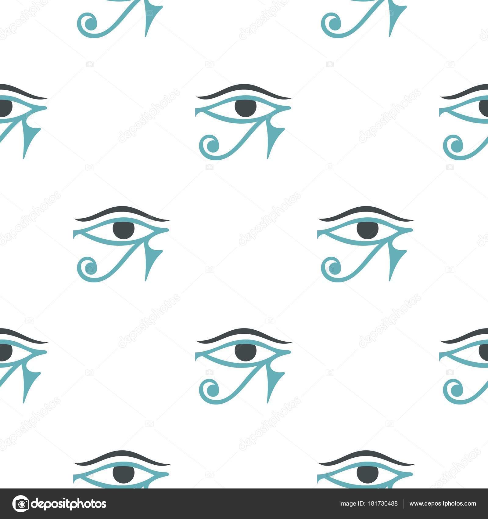 Fondo: Horus ojo pantalla | Ojo del patrón de Horus sin costura ...