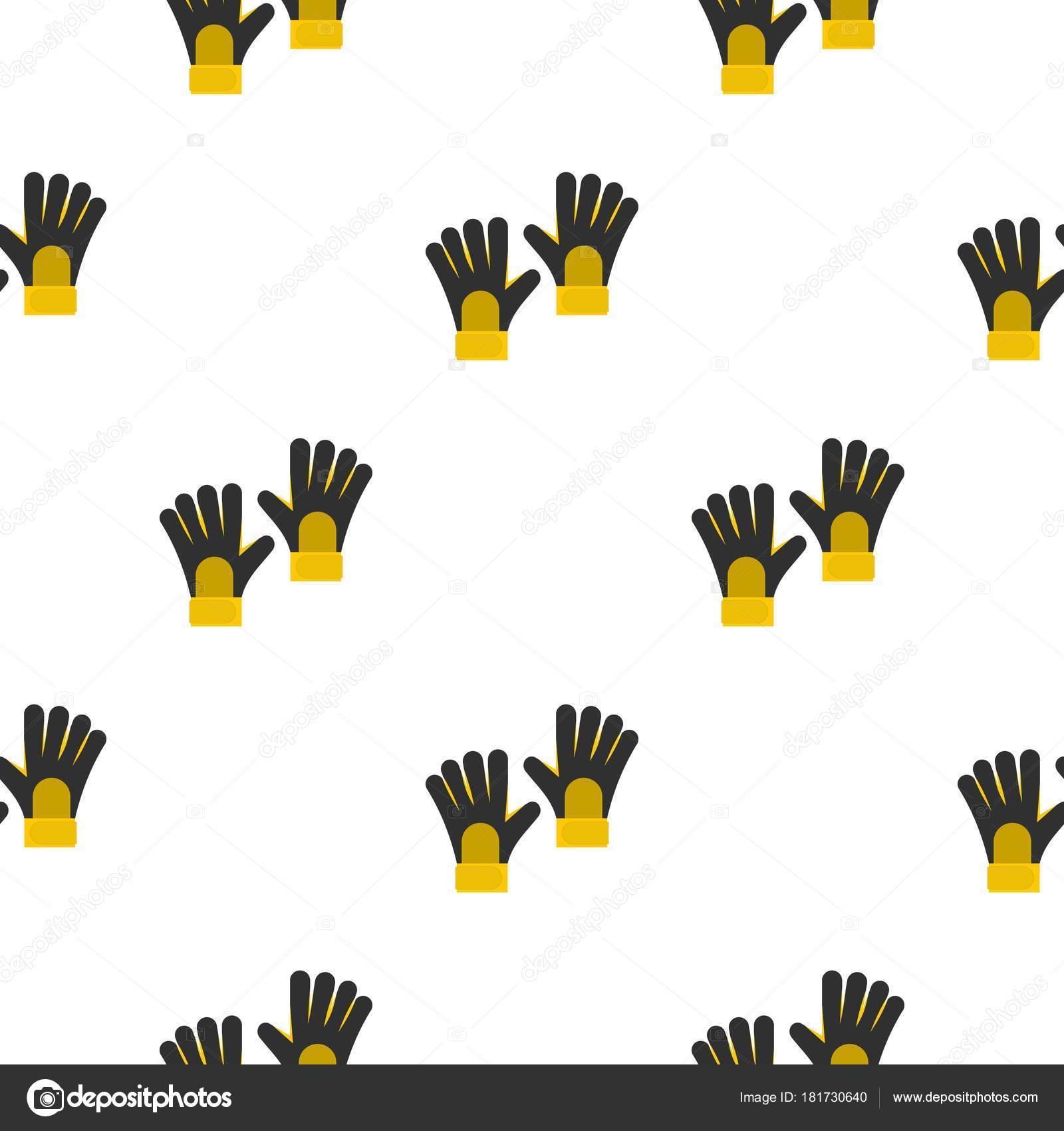 Patrón de guantes de porteros de fútbol sin problemas — Archivo ...