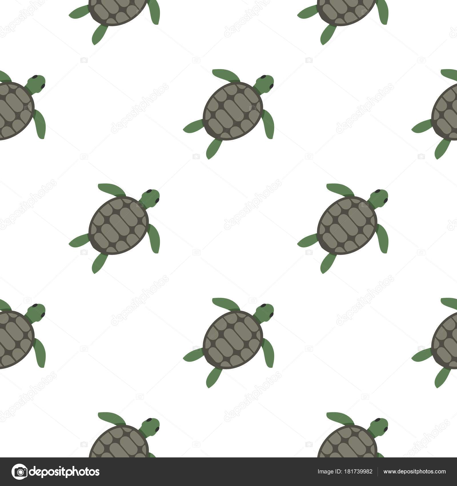 Green Sea Turtle Pattern Seamless Stock Vector Ylivdesign 181739982