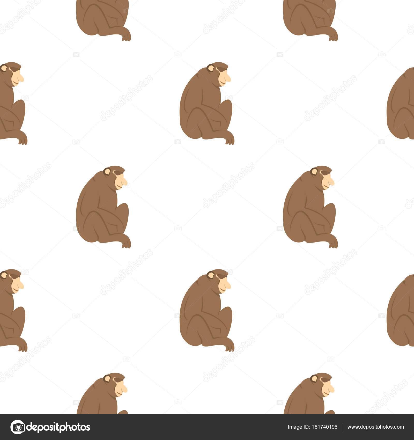 Patrón de mono Orangutan sin costura — Vector de stock © ylivdesign ...
