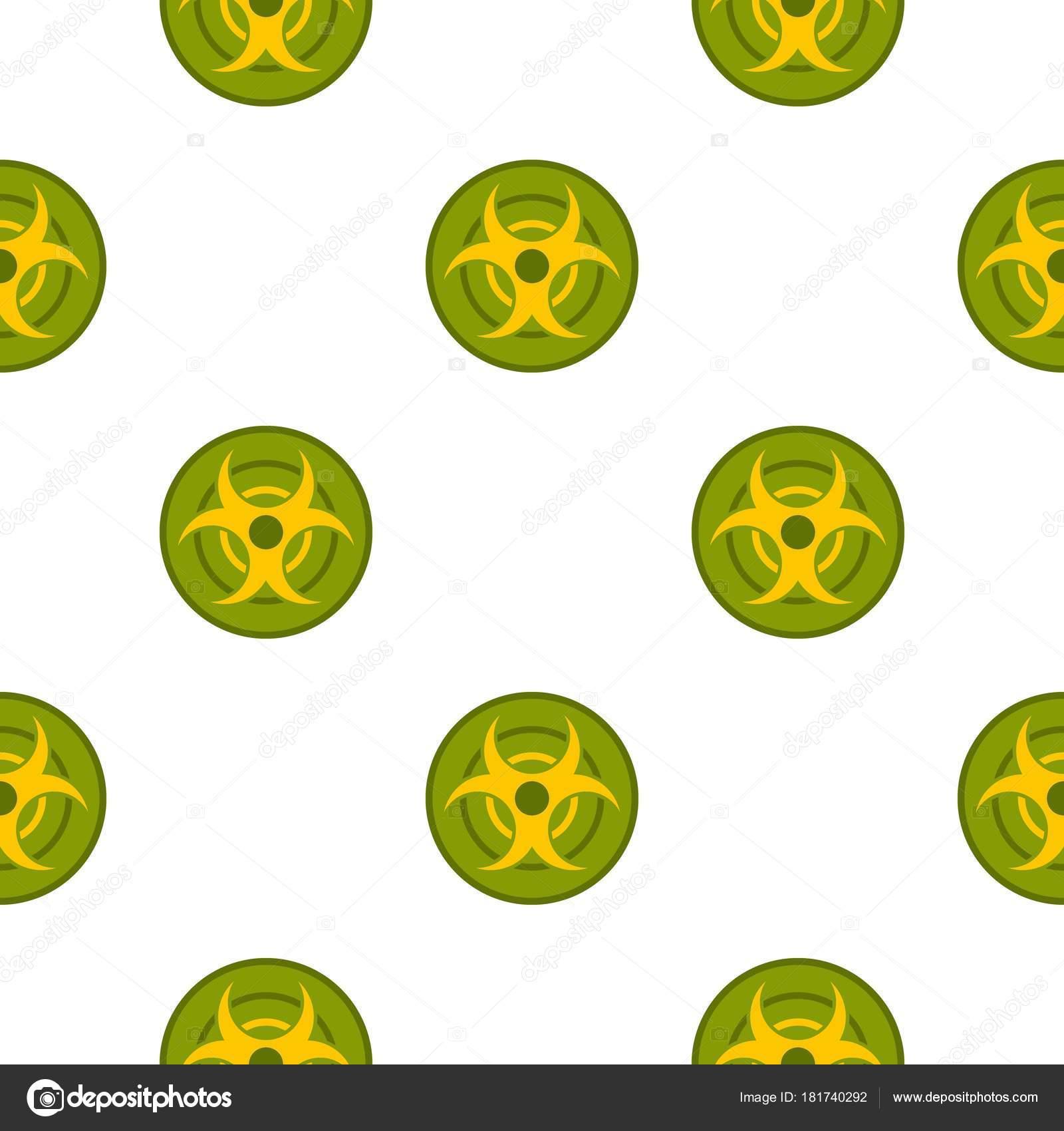 Patrón de símbolo de riesgo biológico sin costura — Archivo Imágenes ...