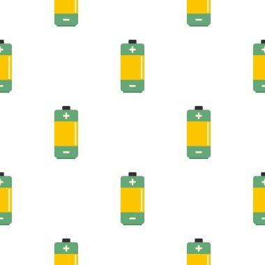 AA Alkaline battery pattern seamless