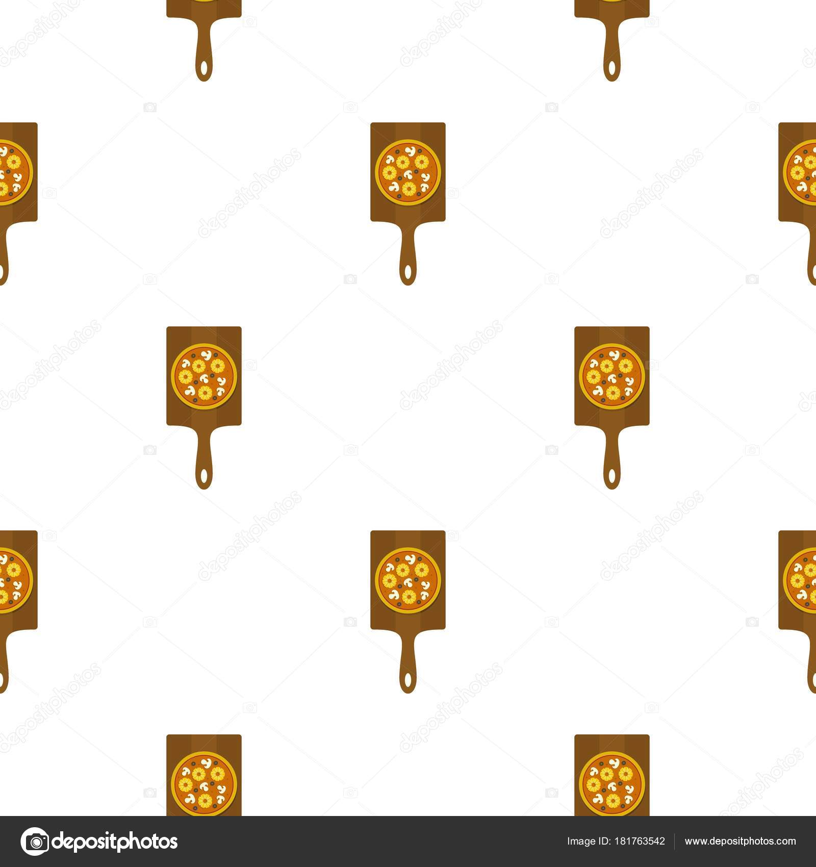 Patrón de sabrosa pizza plana — Vector de stock © ylivdesign #181763542