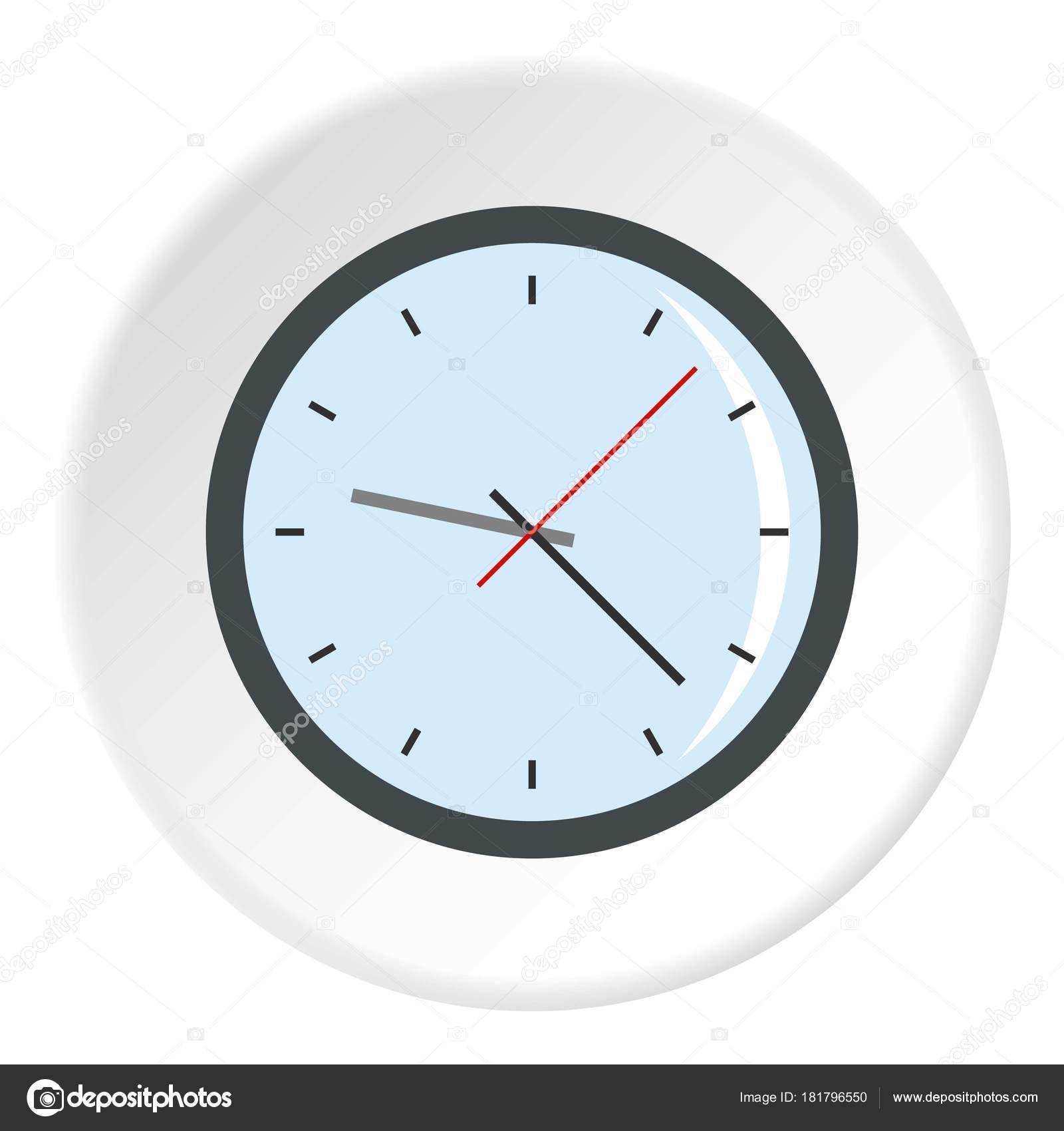 Round analog clock face icon circle — Stock Vector
