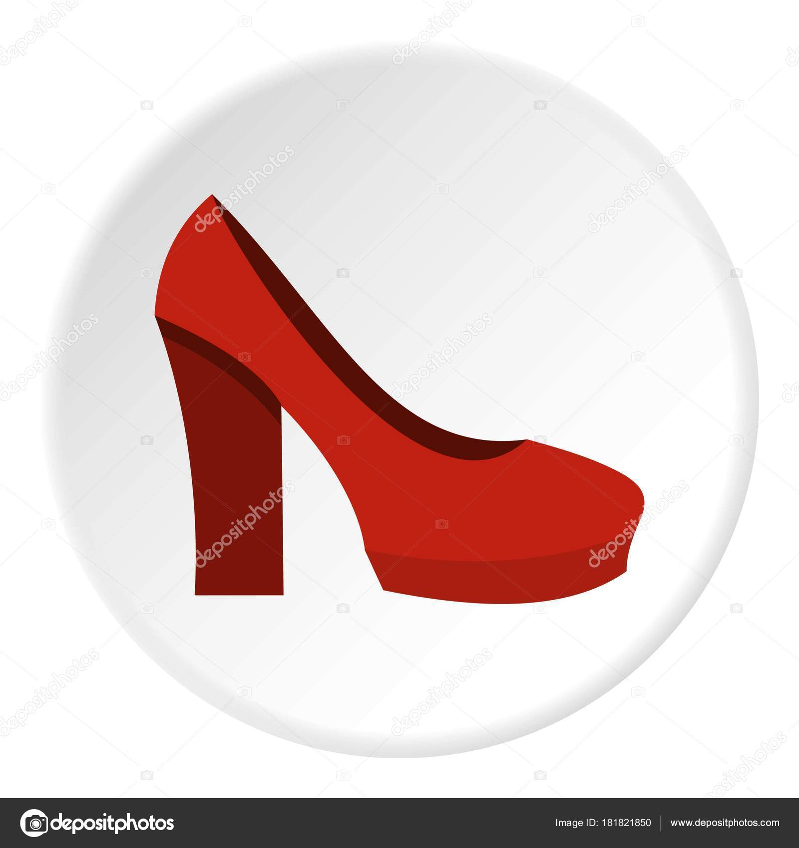 d3f934adad8d Red high heel shoes icon in flat circle isolated vector illustration for  web — Vector by ...